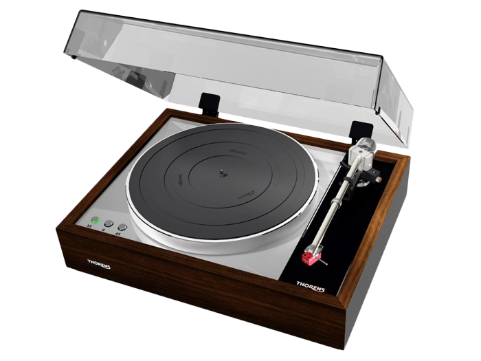 Thorens TD 1600 piano walnut