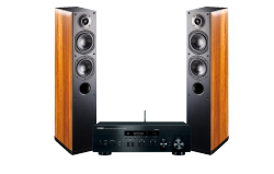 Yamaha MusicCast R-N402D oraz Indiana Line Nota 550.