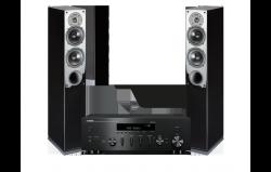 Zestaw stereo - amplituner sieciowy Yamaha R-N602 + kolumny Indiana Line Tesi 542